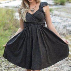 JOYFOLIE Ellen gray knit dress